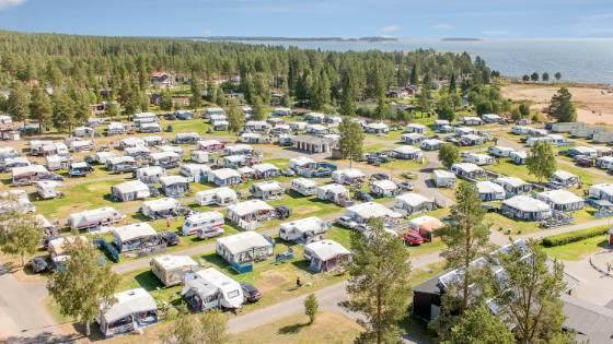 kart over byske camping
