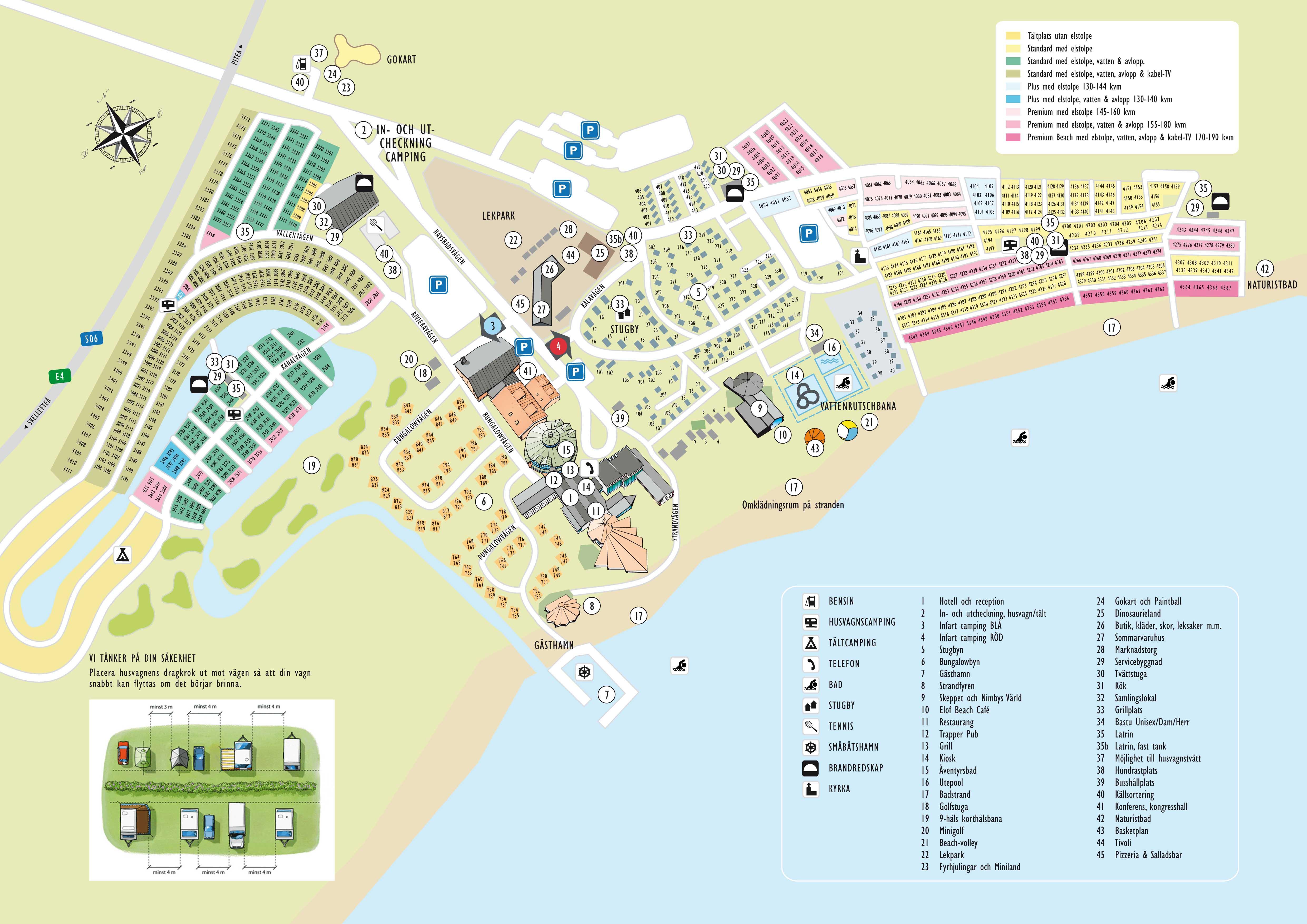 kart over pite havsbad Pite Havsbad   Piteå   Norrbotten   Camping.se kart over pite havsbad