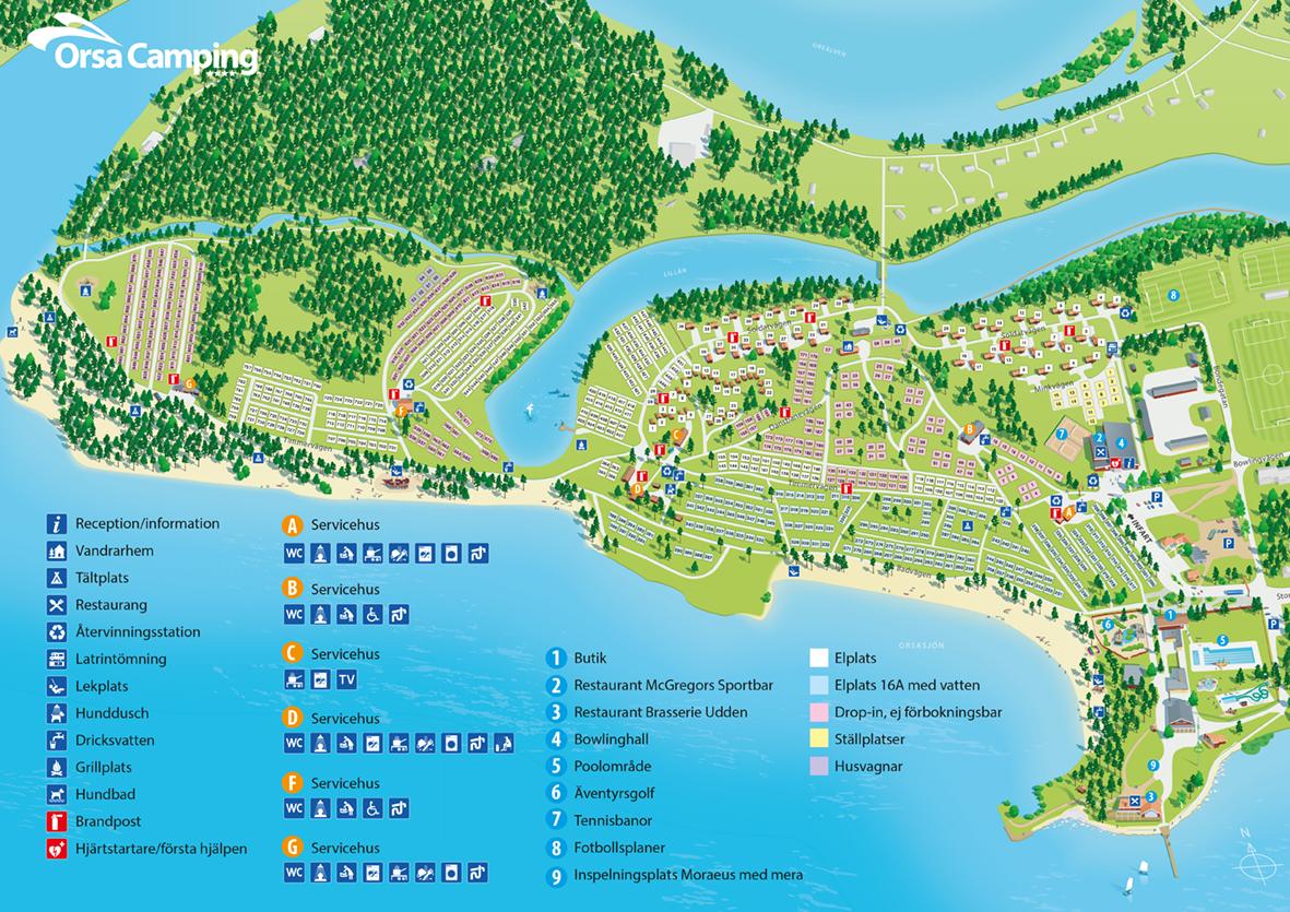 camping dalarna karta Orsa Camping   Orsa   Dalarna   Camping.se camping dalarna karta